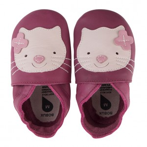 Bobux Soft Soles Limited Edition Katze in Farbe Pink